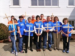 The mission team from First Presbyterian Church of South Boston (Va.) works tirelessly all year providing disaster assistance where needed. Last year, the team created wooden crosses to be placed in church members' yards as a silent witness.