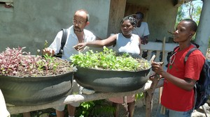 PC(USA) Mission co-worker Mark Hare works with several teams of Haitian farmers in a program that shares ideas about how to grow a lot of food on small plots of land. The teams base their work on key Biblical themes.