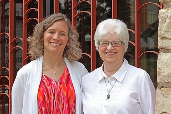 The Rev. Nikki Cooley and Sharon Connole-Key at First Presbyterian Church in Liberty, Missouri.