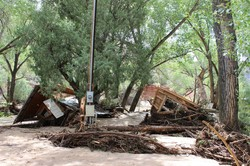 Flooding swept through the arroyos on Ghost Ranch's property causing massive damage.