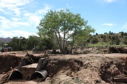 Arroyos have been raging all through New Mexico as a result of the severe storms.