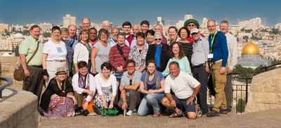 2016 Mosaic of Peace participants at the Mount of Olives.