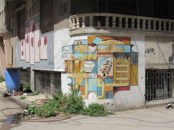 The city of Homs and the art painted in the streets by residents after they returned from three years of exile while extremists held the city. About 400 families have returned so far and say they don't plan to leave again.