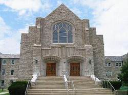 Front view of First and Calvary Presbyterian Church in Springfield, Mo.