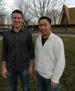 John Nelson, left, coordinator of the Parish Internship Program, and the Rev. Jin Kim, the program's director