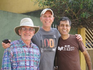 ECG's Ray Jones with mission partners in Brazil