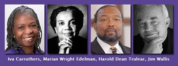 Iva Carruthers, Marian Wright Edelman, Harold Dean Trulear and Jim Wallis will be keynote speakers for the first Christian Unity Gathering of the National Council of Churches.