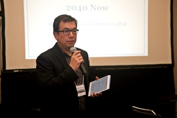 Frank Yamada speaks to participants during the Pan Asian English Ministry Pastors Conference.