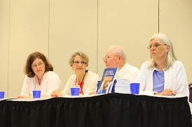 "Emily Enders Odom (center) moderated the workshop ""Getting and Telling Faith Stories,"" at Big Tent"