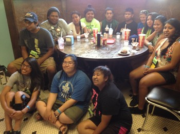 The Indian Presbyterian Youth Connection and the American Indian Youth Council of the Presbyterian Church (U.S.A.) sponsored 13 Native American youth to come to the Presbyterian Youth Triennium.