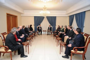 American and European Christians met with Syrian President Bashar al-Assad Jan. 18.