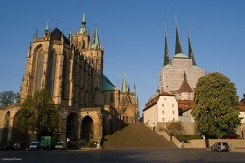Erfurt Cathedral, where Martin Luther was ordained a priest on April 3, 1507.