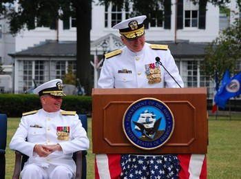 Rear Admirals Tidd and Horn