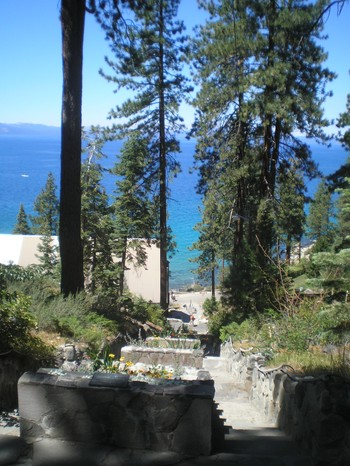 For those prone to the shortest distance between two points, it's only 180 stone steps from the main entrance to Zephyr Point Presbyterian Conference Center to the shores of Lake Tahoe.