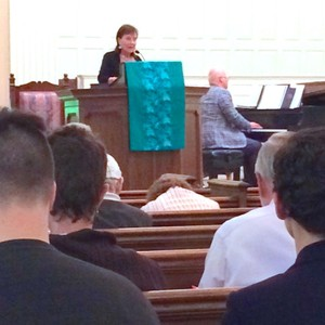 The Rev. Ilene Dunn delivers the pastoral prayer at the More Light Presbyterian National Conference opening worship.
