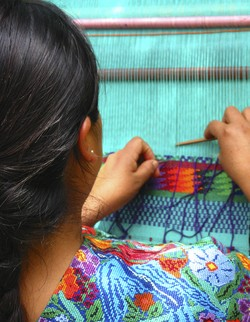 Traditional weaving in Guatemala.