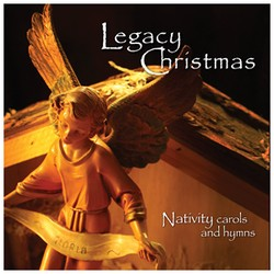 Christmas CD cover artwork with angel