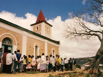 The Church of Jesus Christ in Madagascar has congregations like this one in villages and cities all across the country. Presbyterian World Mission has teamed up with the denomination to combat human trafficking.
