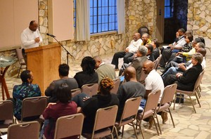 The Rev. Dr. Sterling Morse speaks to attendees of the racial ethic executive leadership training institute at the Montreat (N.C.) Conference Center.