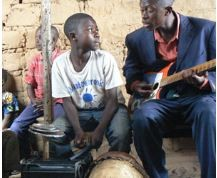 Worship at a church in Nkonko, Congo.