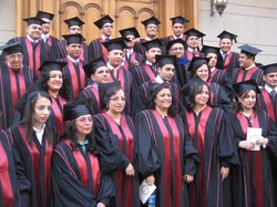 Graduates of the Evangelical Theological Seminary in Cairo.