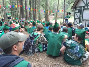 Campers at Calvin Crest participate in the 'Sherwood Forest' camp experience.