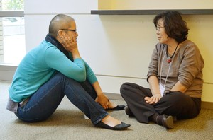 Larissa Kwong Abazia, PC(USA) Vice Moderator and Director of Church Relations at Princeton Theological Seminary; and Young Lee-Hertig, Co-founder/Executive Director at ISAAC (Institute for the Study of Asian American Christianity), engage in discussion.