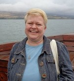 Sue Dravis of Westminster Presbyterian Church in Dubuque, Iowa, at the Sea of Galilee.