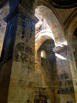"Faded frescoes inside the once-famous Armenian Christian Varagavank monastery, built in the 11th century. It is in a Kurdish village and now known as Yedi Kilise, Turkish for ""seven churches,"" because it used to be an enormous monastery complex."