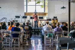Urban Connect meets for worship in space that was once home to a heavy equipment dealership — during the week the building  serves as an event venue in Pheonix's warehouse district.