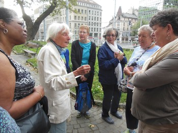 The 2014 Presbyterian Women's group begins its tour of historic Geneva, a site renowned for its role in the Protestant Reformation.