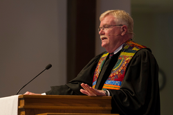 Rev. Gradye Parsons, Stated Clerk of the General Assembly (2014), preaches at First Presbyterian Church in Farmington Hills, MI on Sunday, June 15, 2014.