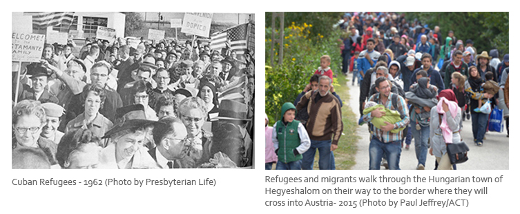 Images of refugees from 1962 and 2015